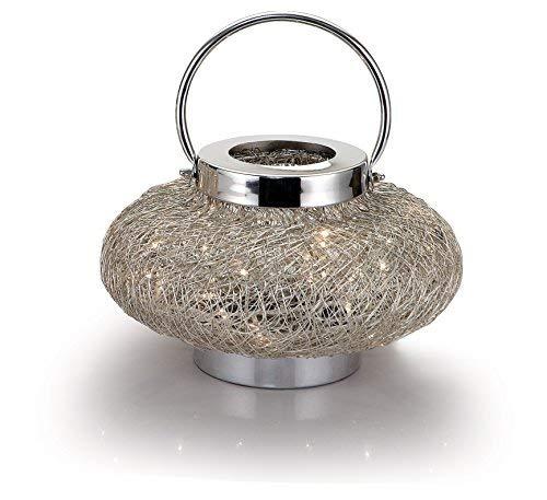 Edge Compan Draht Weave Lampe, L Nickel Wire Mesh