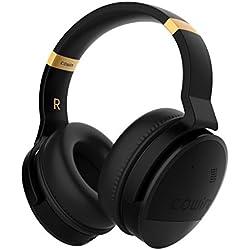 COWIN E8 Casque Bluetooth sans Fil Réduction de Bruit Active Écouteurs avec Microphone Hi-FI Basse Profonde Casque Audio Stéréo 20 Heures Jeux pour Smartphones/iPhone/Xbox/TV/PC/Tablette-Noir