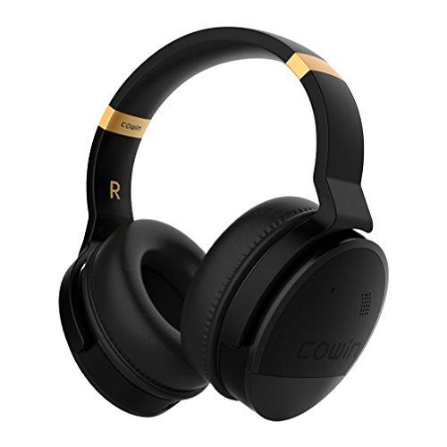Cowin E8 Aktive Noise Cancelling Kopfhörer Bluetooth Kopfhörer mit Mikrofon Hi-Fi Deep Bass Drahtlose Kopfhörer Over-Ear Stereo Sound 20 Stunden Spielzeit für Reisen Arbeit TV Computer Phone (Gold) - Gold Seal Häuser