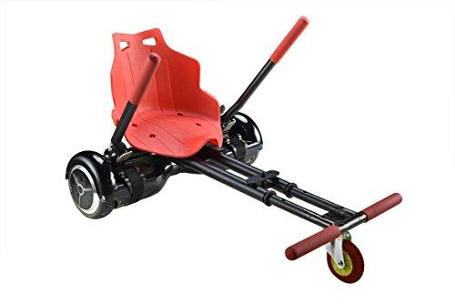R Glable Go Kart Voiture Double Rouleau Flexiblesupport Hoverkart T Lescopique Pour 16 5 Cm Deux De Roue D Quilibre Pour Scooter Red Seat