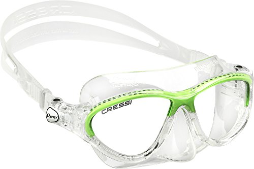 Cressi Moon Kid- Single Tauchmaske , Top Combo Set, Gringo Combo Set,Grun(old Green),7-15 Jahre
