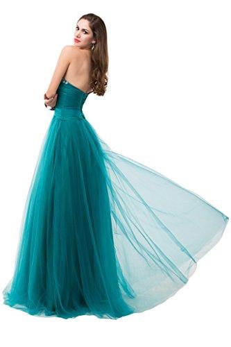 Sunvary Sexy Chiffon Prom abiti corte treno Gowns Cocktail con spalle Apple Green