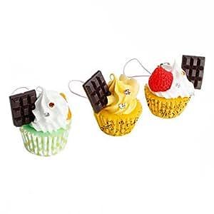 mignon bar de glace gateau au chocolat en forme de porte-cl¨¦s ¨¤ la cr¨¨me (couleurs al¨¦atoires)