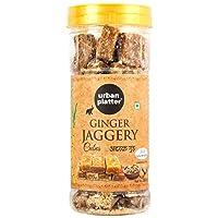 Urban Platter Ginger Jaggery Cubes, 500g [Pure, Adrak Gud, No Preservatives Added]