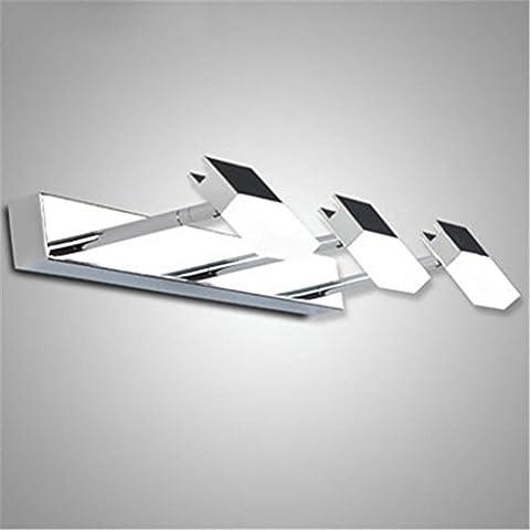 WQRTT® Miroir de Bain Lampes Avant Lampes Murales de Bain Led Rotatable Imperméable À L'Eau Anti-Brouillard Simple Moderne Hôtel Miroir Lampes À Armoire 48 * 5Cm 5W , Warm Light
