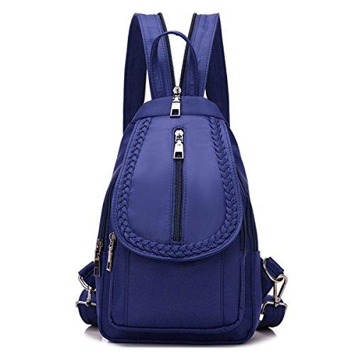BUKUANG Trend Nylon Schulter Diagonal Multifunktionshandtasche Schultertasche Brust Praktische Handtaschen,Black Blue