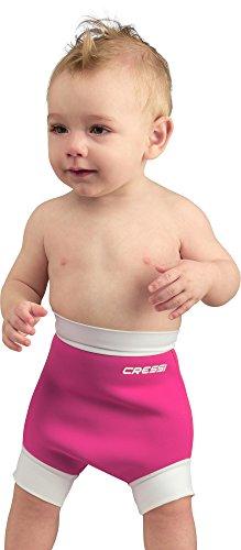 Cressi Baby Reusable Swim Nappy Schwimmwindel, Rosa/Weiß, L-6/14 Monate -