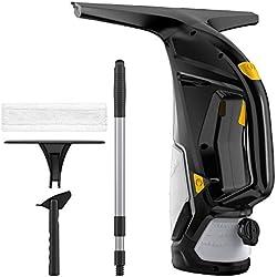 URCERI 2-EN-1 Nettoyeur de Vitres Machine d'Intégration de Nettoyer et Collecter, Réservoir d'Eau: 220 ml Flacon Pulvérisateur: 100ml, Rdapté à Toute Surface Lisse Comme le Miroir et Carrelage 3.7V