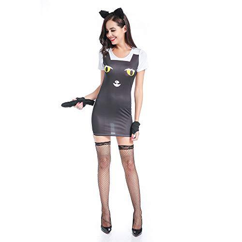 LVLUOYE Rollenspiel, Halloween Cat Girl Temptation Game Uniform, Cos Sexy Lingerie, Playground Animal Play Suit,XL