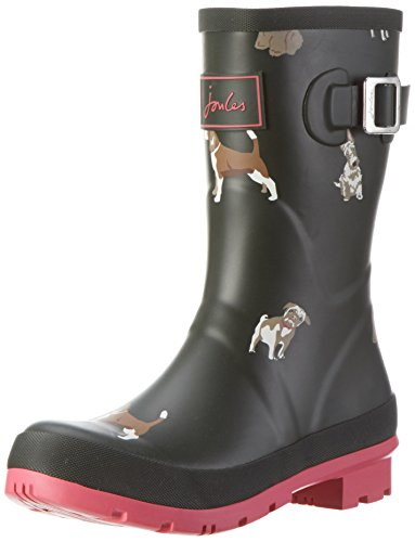 Tom Joule Damen Mollywelly Gummistiefel Grün (Olive Fido Dog)