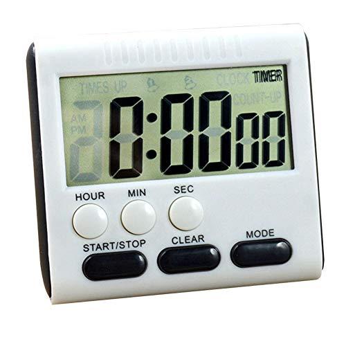 HXHON Digitaler Küchentimer Multifunktionsküche Elektronische Countdown-Erinnerung LCD-Bildschirm Timer 24-Stunden-Timer -