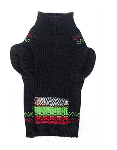 Gwood Neue Herbst/Winter-Tier-Kostüm Hund-Pullover Marine Bow-Haustier-Pullover Sweaters für VIP Bichon Pommerschen Chihuahua Dog (Blau Hirsch, XS) - 3