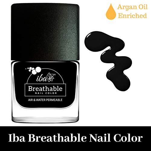 Iba Halal Care Breathable Nail Color, B21 Pristine Black, 9ml