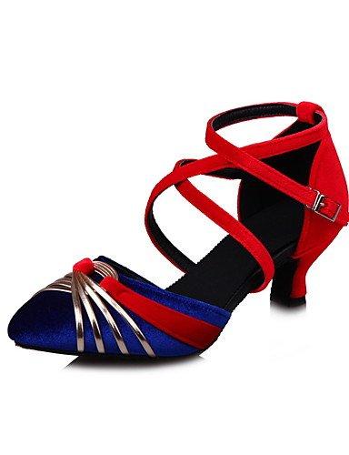 La mode moderne Non Sandales femmes personnalisables Chaussures de Danse Swing Flocage Flocage chaussures sandales talon Cubain professionnel débutant pratique Noir Bleu Vert Gris US10.5/EU42/UK8.5/CN43