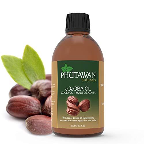 Phutawan Jojobaöl kaltgepresst nativ 250ml natürliches Öl für Haut, Haar & Nägel