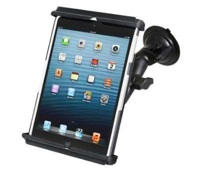 Saugnapfhalterung RAM ram-b-166-tab12u Holder Universal mit Feder für Apple iPad Mini mit Case Tasche