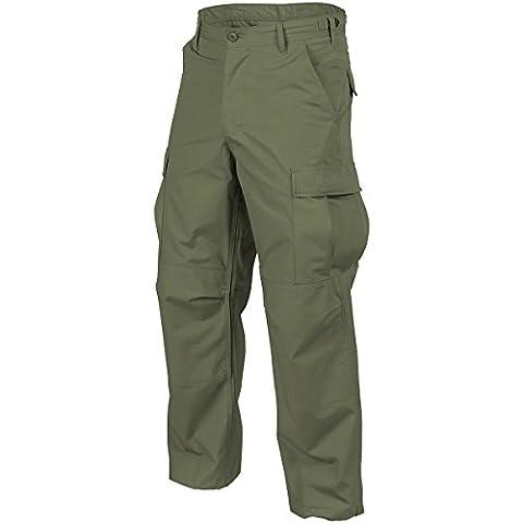 Helikon Hommes BDU Pantalon Olive Vert Coton Ripstop taille M Long