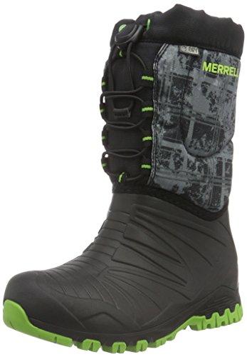 merrell-snow-quest-waterproof-zapatos-de-high-rise-senderismo-para-ninos-negro-black-green-printblac