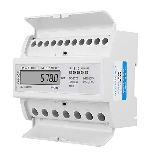 3 Phase 4 Draht 7 P Stromzähler, 380 V LCD Display Wattstundenzähler Elektrische Art Leistungsmesser