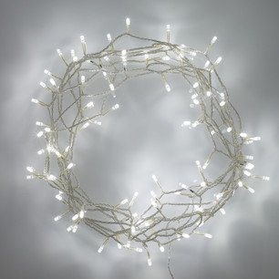 Indoor Fairy Lights with 100 LEDs on 8m of Clear Cable by Lights4fun - inexpensive UK light store.