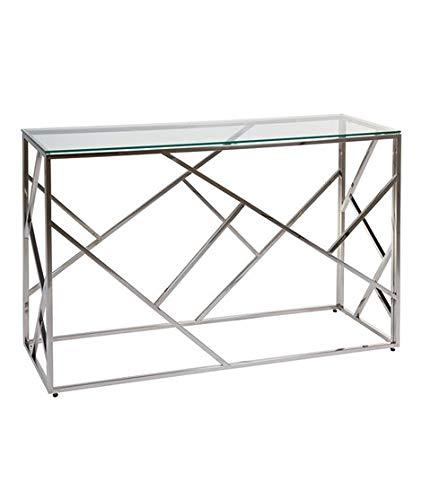 Dabudae Mueble recibidor con Cristal Abstract