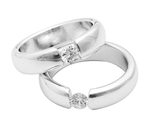 Brillibrum Serviettenringe 2 Stck. Hochzeitsgeschenk Solitär Hochzeit Silber neu Flyer Geschenke Geschenkidee (Serviettenringe mit Gravur (bis je 10 Zeichen) auf beiden Ringen)