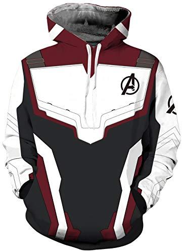 KamiraCoco Homme Sweat-Shirt à Capuche Avengers Endgame Quantum Realm Déguisement (l=XL)