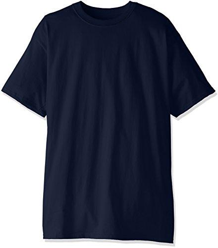 Hanes Herren Hoch Kurzarm Beefy T-Shirt (Pack von Zwei) Gr. L Hoch (US Größe), Navy (Großen Hanes T-shirts)