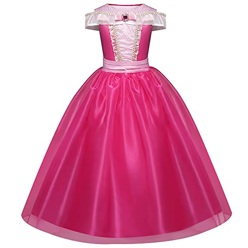 Kleid Kinder Kurzarm Kinder Geschenk verkleiden sich Cosplay Mädchen Geburtstag Kostüm Polyester Cute Halloween Dornröschen(120cm) ()