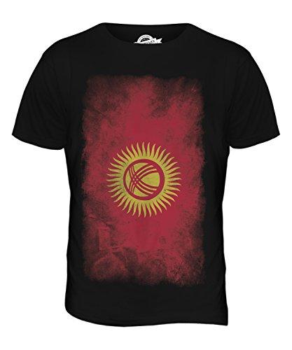 CandyMix Kirgisistan Verblichen Flagge Herren T Shirt Schwarz
