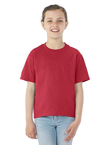 Schwergewicht Mischung Jugend Tee (True Red) (XL) (Jugend-true Tee Red)