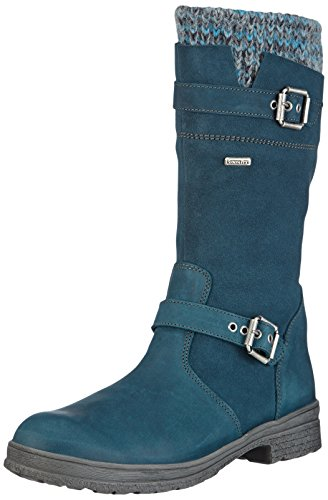 Däumling Mädchen Alia Kurzschaft Stiefel, Blau (Denver Petrol 50), 38 EU Leder-stiefel