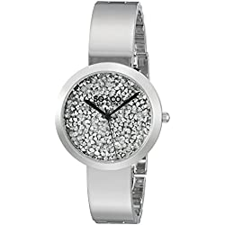 SO&CO New York Women's 'SoHo' Quartz Stainless Steel Dress Watch, Color:Silver-Toned (Model: 5249.1)