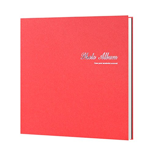 FOOHAO- Albums photo avec des pages collantes, albums de famille d'affaires minimaliste, bricolage Creative Travel Album voyage, 20 Pages (40 Surface) (Couleur : A-White card)