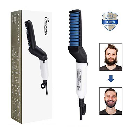 Charminer Plancha de pelo barba flequillo para Los hombres Peine alisador barba alisar funciona fijador peinar Rizador de pelo Multifuncional La rápida enderezadora