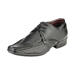 Delize Black Lace-ups Formal Shoes