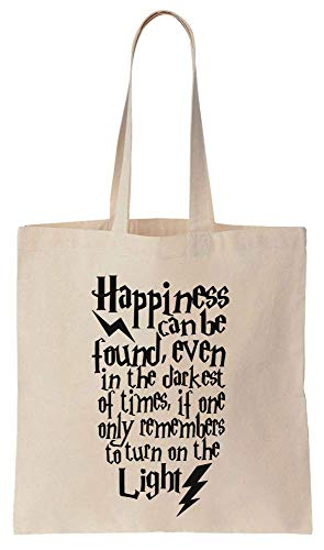 Happiness Can Be Found Even In The Darkest Places Quote Cotton Canvas Tote Bag