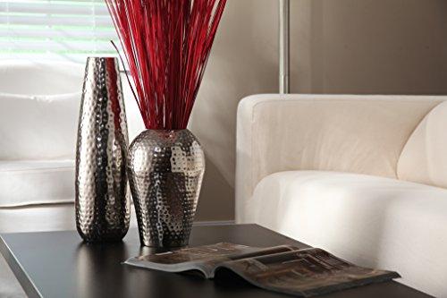 Eleganter Expressions von HOSLEY Vase gehämmertes Metall, silber