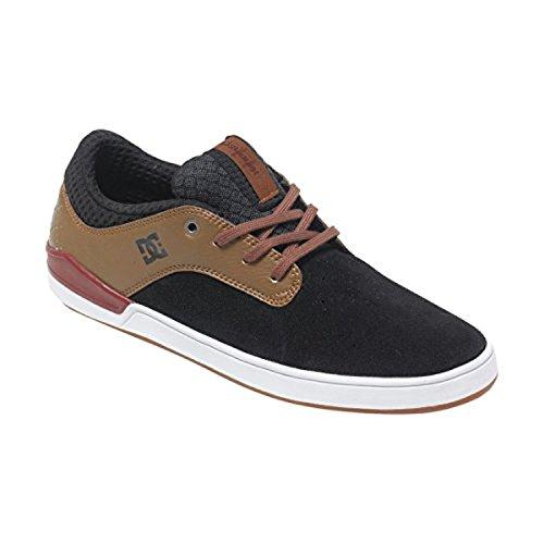 DC Mens Mikey Taylor 2 Skate Shoe, Black/Brown/White, 11D