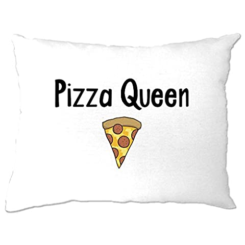 Pizza Queen I Love Pizza Food Girly Funny Slogan Cool Comfort Eating Cheese Pepperoni Crust Trend Hipster Pillow Case Bedroom Cool Birthday Gift