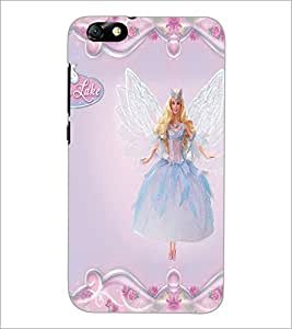 PrintDhaba Fairy Barbie D-1085 Back Case Cover for HUAWEI HONOR 4X (Multi-Coloured)