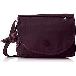Kipling - Orleane, Bolsos bandolera Mujer, Violett (Plum Purple), 32x11x23 cm (B x H T)