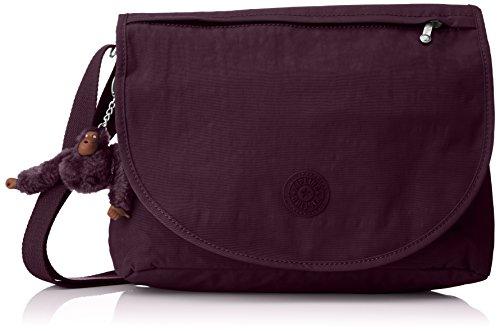 Kipling Damen Orleane Umhängetasche, Violett (Plum Purple), 32 x 11 x 23 cm (Plum-handtasche)