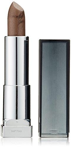 Maybelline Color Sensational Matte Metallic Lippenstift Nr. 35 Steel Chic, mit matt metallischem Finish, cremige Textur, feuchtigkeitsspendend -