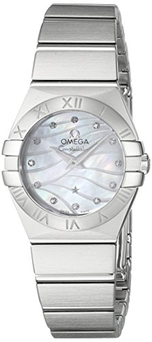 OMEGA WOMEN'S 24MM STEEL BRACELET SWISS QUARTZ WATCH 123.10.24.60.55.003