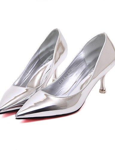 WSS 2016 Chaussures Femme-Bureau & Travail / Habillé-Argent / Champagne-Talon Aiguille-Talons / Bout Pointu-Talons-Polyuréthane silver-us7.5 / eu38 / uk5.5 / cn38