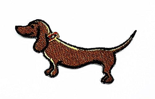 rabana Dackel Hund Puppy Pet Cartoon Kids Kinder Cute Animal Patch für Heimwerker-Applikation Eisen auf Patch T Shirt Patch Sew Iron on gesticktes Badge Schild (Lustige Kostüme Dackel)