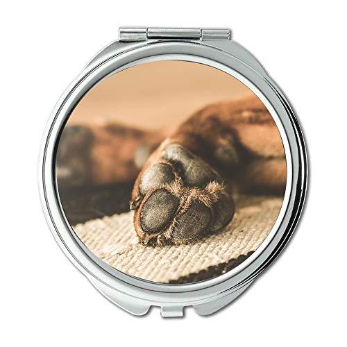 Specchio, Specchio da viaggio, Cane per animali Zampe domestiche Animale domestico Stanco, specchio tascabile, specchio portatile