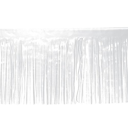 Vinyl Fransen-38,1cm X 10'Roll of Dekorieren Material für Parade Schwimmt und Party Supplies weiß -