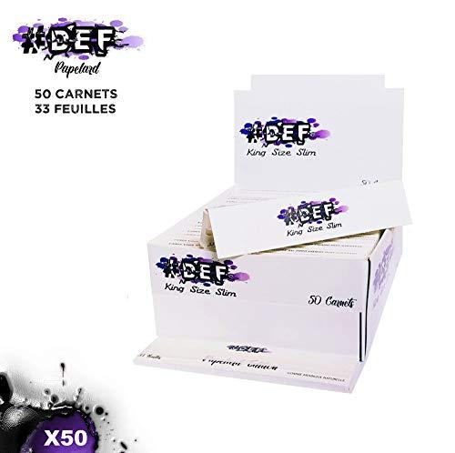 Feuilles à rouler #DEF King Size Slim grande taille boite de 50 carnets de 33 Feuilles longues qualité OCB ou JASS